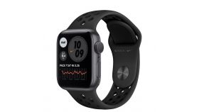 Apple Watch Nike S6 GPS, 44mm Space Gray Aluminium Case with Anthracite/Black Nike Sport Band - Regular