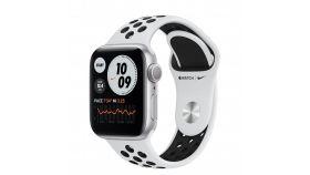 Apple Watch Nike S6 GPS, 44mm Silver Aluminium Case with Pure Platinum/Black Nike Sport Band - Regular