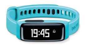Beurer AS 81 Activity sensor turquois, Bluetooth, sleep traking-analysis, memory capacity for 30 days/7 nights, alarm,fat burn, OLED display, Li-ion battery, charging cable