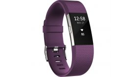 Fitbit Charge 2 Plum Silver, Large