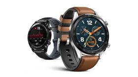 """Huawei Watch GT, FTN-B19V, 1.39"""" Amoled, 454 x 454, Brown leather strap, Silver"""