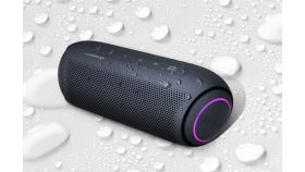LG PL5, Portable Bluetooth Speaker, Meridian Audio Technology, Passive Radiator Woofer, Party Lighting Effects, Speaker Phone, Bluetooth, 18 hours Built-in Battery, Dual Play