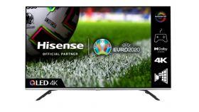 """Hisense 50"""" 50E76GQ, 4K Ultra HD 3840x2160, DLED, Quantum Dot, HDR 10+, HLG, Dolby Vision, Dolby Atmos, Smart TV, WiFi 5GHz, WiFi Direct, BT, DLNA, Gaming Mode, 1xHDMI2.1 eArc, 2xHDMI, 2xUSB, LAN, CI+, DVB-T2/C/S2, Black/Silver"""