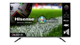 """Hisense 55"""" 55E76GQ, 4K Ultra HD 3840x2160, DLED, Quantum Dot, HDR 10+, HLG, Dolby Vision, Dolby Atmos, Smart TV, WiFi 5GHz, WiFi Direct, BT, DLNA, Gaming Mode, 1xHDMI2.1 eArc, 2xHDMI, 2xUSB, LAN, CI+, DVB-T2/C/S2, Black/Silver"""
