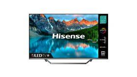 """Hisense 55"""" U7QF, 4K Ultra HD 3840x2160, ULED, Quantum Dot, 4K HDR 10+, Dolby Atmos, Smart TV, WiFi, BT, 4xHDMI, 2xUSB, LAN, DVB-T2/C/S2, Black/Silver"""