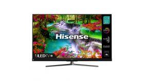 """Hisense 65"""" U8QF, 4K Ultra HD 3840x2160, ULED, Quantum Dot, 4K HDR 10+, Dolby Atmos, Smart TV, WiFi, BT, 4xHDMI, 2xUSB, LAN, DVB-T2/C/S2, Black/Silver"""
