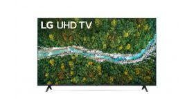 "LG 43UP77003LB, 43"" 4K IPS UltraHD TV 3840 x 2160, DVB-T2/C/S2, webOS Smart TV, ThinQ AI, Quad Core Processor 4K, WiFi 802.11ac, HDR10, HLG, AI Sound, Voice Controll, Miracast / AirPlay 2,  HDMI, CI, LAN, USB, Bluetooth, 2 pole Stand, Dark Gray"