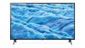 LG 49UM7100PLB, UHD, DLED, DVB-C/T2/S2, Wide Viewing Angle, 4K Active HDR, ThinQ AI, webOS Smart TV, Built-in Wi-Fi, Bluetooth, Two Pole Stand, Ceramic Black
