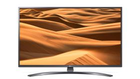 "LG 49UM7400PLB, 49"" 4K UltraHD TV, IPS 4K Display 3840 x 2160, DVB-T2/C/S2, Smart webOS ,ThinQ AI, WiFi 802.11ac, 4КActive HDR, HDMI, Simplink, CI, LAN, USB, Bluetooth, Ultra Surround, Crescent Stand, Iron Gray"