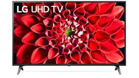 """LG 49UN711C0ZB, 49"""" 4K UltraHD IPS TV 3840 x 2160, DVB-T2/C/S2, Smart TV,  4K Active, HDR10 Pro, HLG,  Built-in Wi-Fi, Component, composite, HDMI, LAN, USB, Bluetooth, CI, Hotel mode, Ceramic Black"""