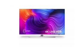 """Philips 43PUS8506/12, 43"""" THE ONE, UHD 4K LED 3840x2160, DVB-T2/C/S2, Ambilight 3, HDR10+, HLG, Android 9, Dolby Vision, Dolby Atmos, Quad Core P5 Perfect/Al, 60Hz, BT 4.2, HDMI, USB, Cl+, 802.11ac, Lan, 20W RMS, Swivel Stand, Silver"""