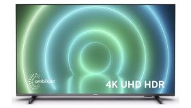 """Philips 50PUS7906/12, 50"""" UHD 4K LED 3840x2160, DVB-T2/C/S2, Ambilight 3, HDR10+, HLG, Android 10, Dolby Vision, Dolby Atmos, Quad Core Pixel Plus Ultra HD, 60Hz, BT 5.0, HDMI 2.1 VRR, ARC, USB, Cl+, 802.11n, Lan, 20W RMS, Borderless design, Black"""