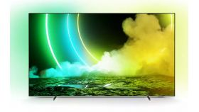 """Philips 55OLED705/12, 55"""" UHD 4K OLED 3840x2160, DVB-T2/C/S2, Ambilight 3, HDR10+, Android 9, Dolby Vision, Dolby Atmos, Quad Core P5 Perfect/Al, 60Hz, BT 4.2, HDMI, USB, Cl+, 802.11ac, Lan, 50W RMS, Alexa build in, Swivel Dark Chrome Stand"""