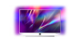 """Philips 58PUS8535/12, 58"""" THE ONE UHD 4K LED 3840x2160, DVB-T2/C/S2, Ambilight 3, HDR10+, HLG, Android 9, Dolby Vision, Dolby Atmos, Quad Core P5 Perfect/Al, 60Hz, BT 4.2, HDMI, USB, Cl+, 802.11ac, Lan, 20W RMS, Swivel Stand, Silver"""