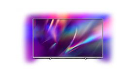 """Philips 70PUS8505/12, 70"""" THE ONE UHD 4K LED 3840x2160, DVB-T2/C/S2, Ambilight 3, HDR10+, HLG, Android 9, Quad Core P5 Perfect/Al, 60Hz, BT 4.2, HDMI, USB, Cl+, 802.11ac, Lan, 20W RMS, Swivel Stand, Silver+Philips TAM2505/10, Micro music system,"""