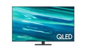 Samsung 65'' 65Q80A QLED FLAT, SMART, 3800 PQI, Dual LED, Direct Full Array 8x, Micro Dimming, Quantum HDR 1500, HDR 10+, Dolby Digital Plus, Q-Symphony, Mirroring, Bixby, Bluetooth 4.2, Wi-Fi 5, 4xHDMI, 2xUSB, Frameless, Tizen, Graphite