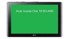 """Acer Iconia B3-A40, 10.1"""" HD IPS (1280x800), MTK MT8167 Quad Cortex A35 (1.30 GHz), 2GB DDR3L, 16GB eMMC, 2MP&5MP Cam, 802.11/ac, BT 4.1, GPS, Android 7.0 Nougat, Black"""