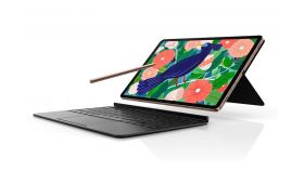 """Samsung SM-T976 TAB S7 + 5G 12.4"""", 2800x1752 Super AMOLED, HDR10+, 120Hz, 128GB Up To 1TB MicroSD, Octa-Core (1x3.09GHz, 3x2.4GHz, 4x1.8GHz), 6GB RAM , 4xAKG Tuned Speakers, Bluetooth 5.0, Front 13MP + 5MP + 8.0 MP Selfie, 10 090 mAh, Android 10, Bla"""