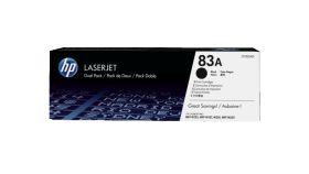 HP 83A 2-pack Black Original LaserJet Toner Cartridge (CF283AD)
