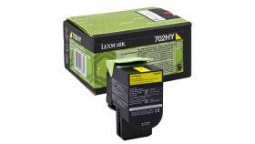 Lexmark 702HY Yellow High Yield Return Program Toner Cartridge