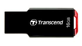 Transcend 16GB, USB2.0, Pen Drive, Capless, Slim, Black