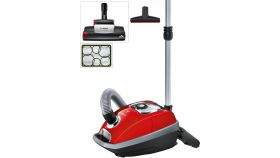Bosch BGL8ZOON, 5 lt dust receptable compartment, allergyPlus Filter, 15 m radius, 4 wheels, nozzles (SilentClean Premium / hard floor / ProAnimal turbo brush / crevice / ProAnimal upholstery / furniture), AABA, 70 dB; Ergo Premium handle, tornado re