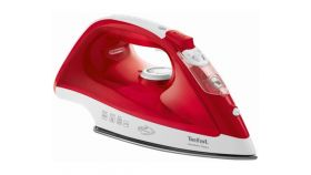 Tefal FV1543E0, Red, 2100W - 0-25g/min - shot 100g/min - ceramic plate - anti drip - water tank 250 ml