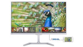 "Philips 23.6"" PLS W-LED monitor 1920x1080 FullHD 16:9 5ms 250cd/m2 20 000 000:1 VGA, DVI, HDMI, White"