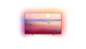 "Philips 43"" 4K Ultra HD, Smart TV, Saphi, Ambilight 3-sided, DVB-T/T2/T2-HD/C/S/S2 , Индекс на качеството на образа 1200, HDR 10+, Pixel Precise Ultra HD, Dolby Vision and Dolby Atmos"