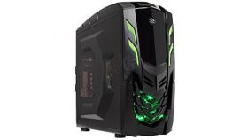 """Chassis  VIPER_GX Middle Tower, ATX, 7 slots, 3 X 5.25"""", 3 X 3.5"""" H.D. or 3 X 2.5"""" SSD, 2 x AUDIO / 2 x USB3.0, PSU Optional, 2 X 120mm LED fan (one included), 1 x 120mm Black frame with Black leaves fan,  Black"""