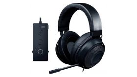 Razer Kraken Black 2019, Drivers: 50 mm with Neodymium magnets, Frequency response: 12 Hz – 28 kHz, Cooling Gel-Infused Cushions, Bauxite Aluminum Frame, Retractable Unidirectional Microphone, Input power: 30 mW (Max), Impedance: 32 ? @ 1 kHz