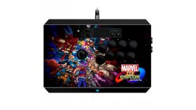 Razer Marvel vs Capcom Panthera Arcade Stick for PS4, 10 tournament-grade Sanwa buttons, Sanwa joystick with ball top, Honeycomb structure, Storage room, 3 m detachable screw-lock USB cable for secure connection, Screwdriver included