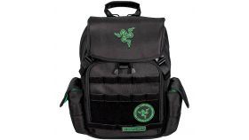 "Razer Tactical Backpack (14""), Made from robust 1680D ballistic nylon, Tear- and water-resistant exterior, Scratch proof interior, Soft padded shoulder straps and back panel, Adjustable chest buckle, 2 large interior compartments"
