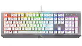 Razer BlackWidow X Chroma Mercury Ed. - US Layout - White- Chroma Keyboard Multi-color Mechanical Gaming Keyboard,50g actuation force,80 million keystroke life,Compact layout,Military grade metal top construction,Cable management routing