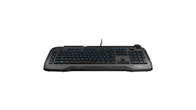 ROCCAT Horde - Membranical Gaming Keyboard, Gray, ARM Cortex-M0+ 50MHz, 512kB onboard memory, 1000Hz polling rate, 1.2mm actuation point for macro keys, 1.8m braided USB cable
