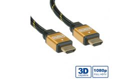 ROLINE 11.04.5566 :: Gold HDMI High Speed кабел, HDMI M - HDMI M, 10.0 м