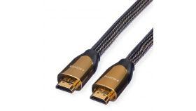 ROLINE 11.04.5801:: Ultra HD 4К PREMIUM HDMI кабел + Ethernet, M/M, 1 м