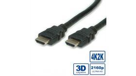 ROLINE 11.99.5680 :: VALUE Ultra HD 4К HDMI кабел + Ethernet, M/M, 1.0 м