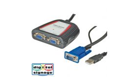 ROLINE 14.99.3523 :: VALUE Portable VGA Video Splitter, 2-way, 250 MHz