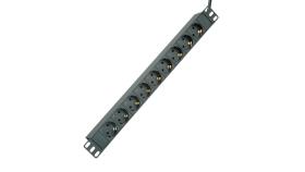 """ROLINE 19.07.1621 :: Разклонител PDU за 19"""" шкаф, 45°, 16A, алуминиев, черен, 2.0 м"""