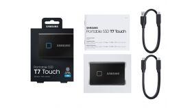 SAMSUNG Portable SSD T7 Touch 1TB extern USB 3.2 Gen.2 black metallic