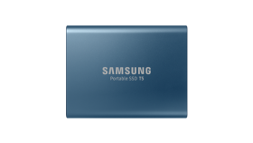 Portable SSD Samsung T5 Series, 500 GB 3D V-NAND Flash, Slim, USB type-C , Metal Blue
