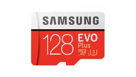 Samsung MicroSD card EVO+ series with Adapter, 128GB , Class10, UHS-1 Grade3 , Speed Read 100MB/s,Speed Write 60MB/s