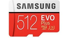 Samsung MicroSD card EVO+ series with Adapter, 512GB , Class10, UHS-1 Grade3 , Speed Read 100MB/s,Speed Write 90MB/s