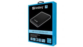 "SANDBERG SNB-133-89 :: Кутия за 2.5"" SATA диск, USB 3.0"
