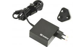 SANDBERG SNB-135-72 :: Захранващ адаптер USB-C 65W EU+UK