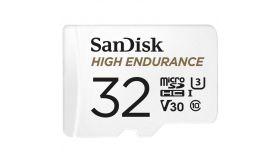 Карта памет SANDISK High Endurance, microSDXC, 32GB, U3, 100 Mb/s, SD адаптер