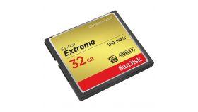 SanDisk Extreme CF 120MB/s, 85MB/s write, UDMA7, 32GB; EAN: 619659123680