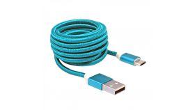 SBOX USB AM-MICRO-15BL :: USB кабел, Type A - Micro B, M/M, 1.5 м, син