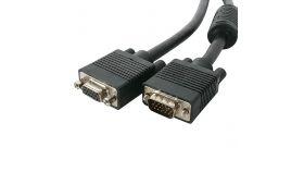 SBOX VGA-MF2 :: Удължителен SVGA кабел, HD15 M - HD15 F, 2.0 м, феритни накрайници